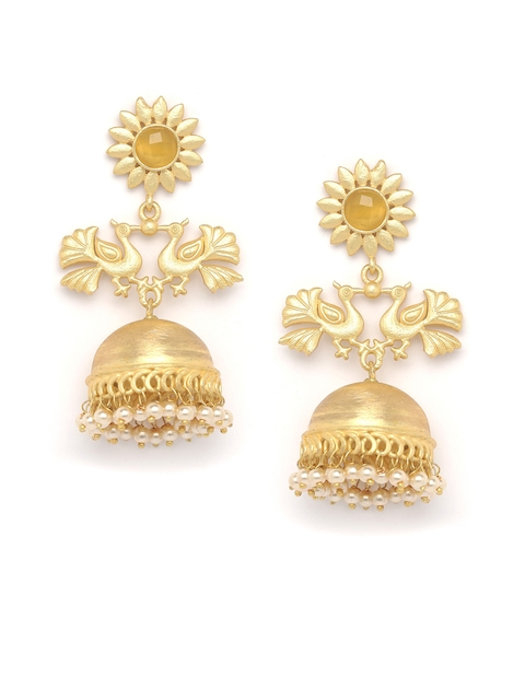 PANASH Gold -Plated Handcrafted Jhumkas