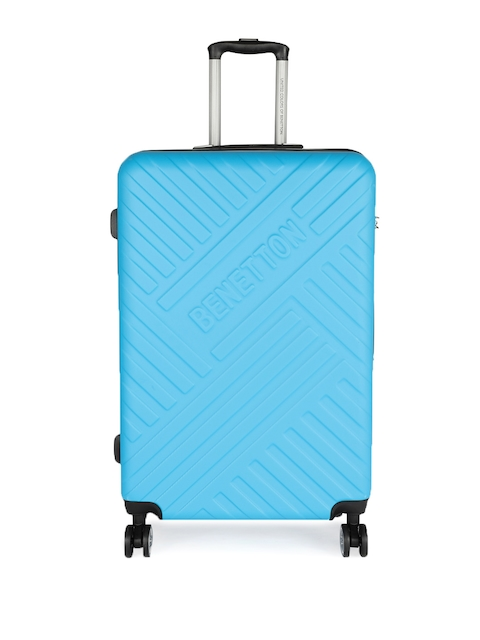 United Colors of Benetton Unisex Blue Large Strolley Suitcase