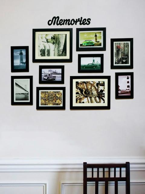 Art Street Black Set of 10 Photo Frames