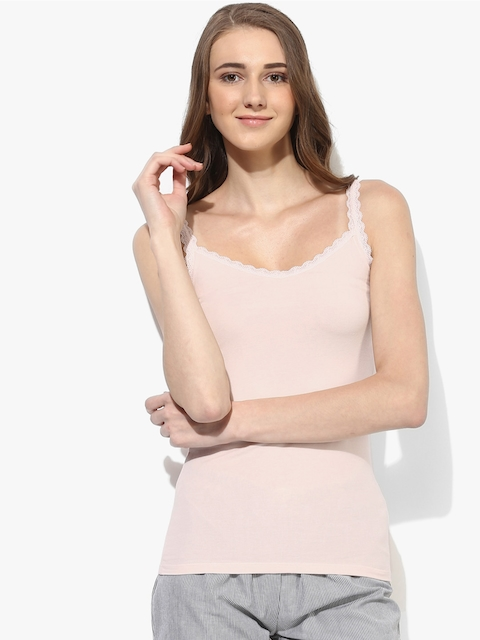 Marks & Spencer Women Pink Solid Camisole T614635PALE ROSE