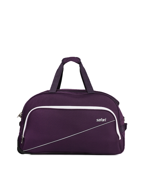 Safari Unisex Purple PEP65 Medium Trolley Duffle Bag