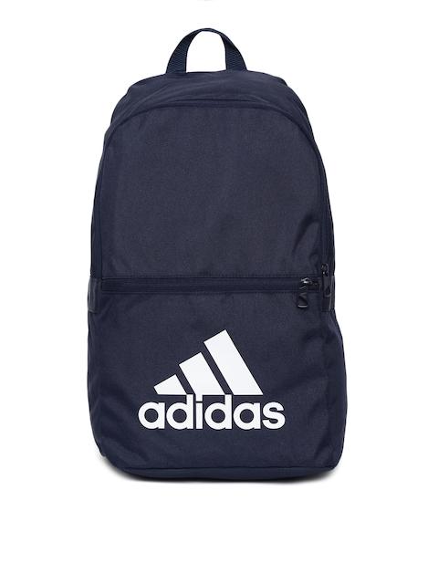ADIDAS Unisex Navy Blue Classic 18 Brand Logo Backpack