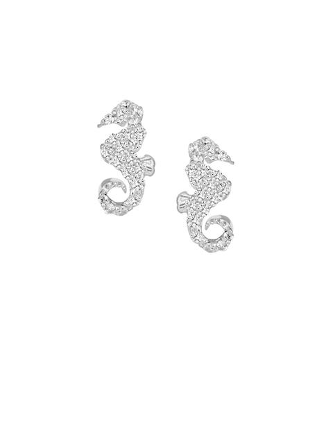 TALISMAN Silver-Toned Animal Shaped Studs