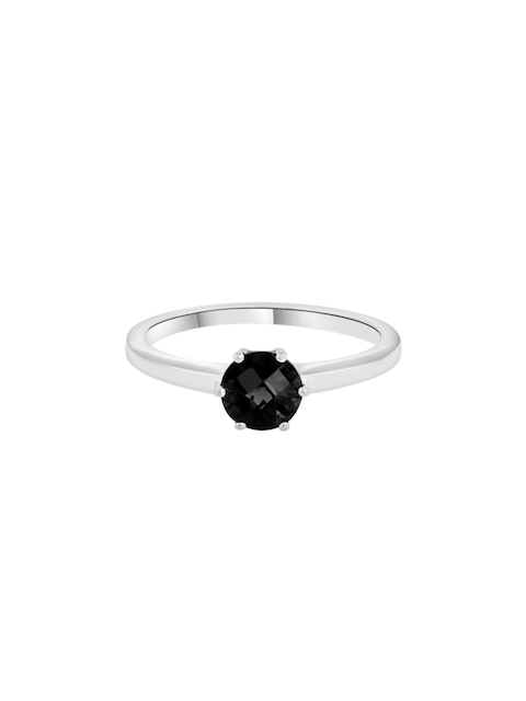 TALISMAN Women Handcrafted Rhodium-Plated 925 Sterling Silver Stone-Studded Ring
