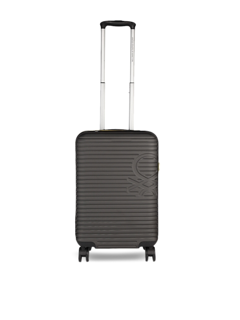 United Colors of Benetton Unisex Grey Cabin Strolley Suitcase