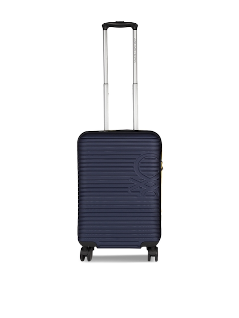 United Colors of Benetton Blue Cabin Trolley Suitcase BENETTON STAN CABIN LUGGAGE TROLLEY
