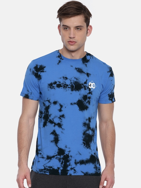 DC Men Blue Printed Round Neck T-shirt