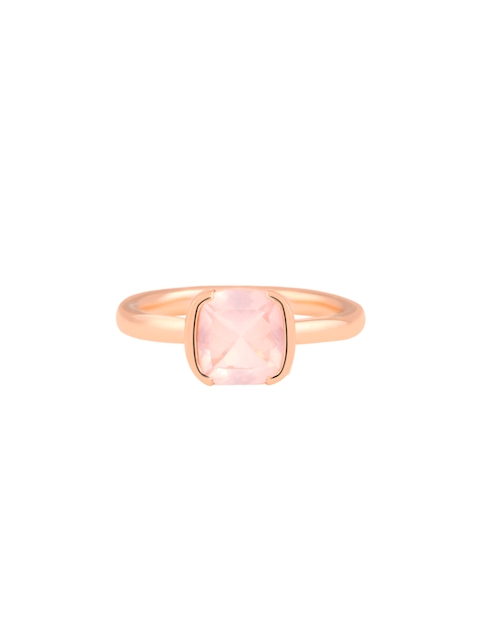 TALISMAN Rose Gold-Plated & Embedded White Quartz Stones Handcrafted Ring