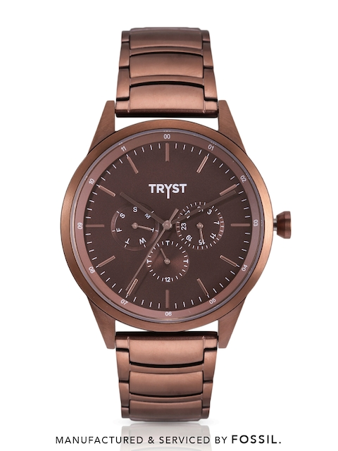 TRYST Manufactured & Serviced by Fossil Men Copper Watch