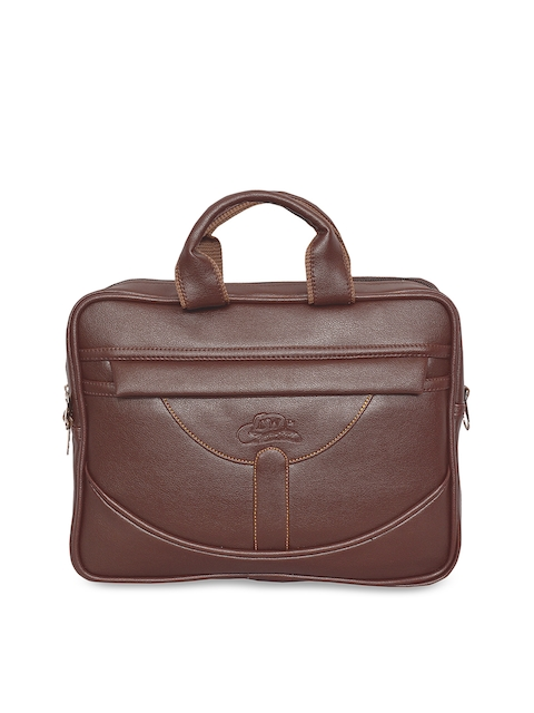Leather World Unisex Brown Solid Laptop Bag