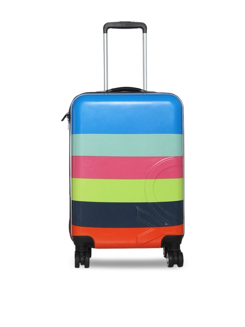 United Colors of Benetton BENETTON KIDS Multicoloured Striped Cabin Trolley Suitcase
