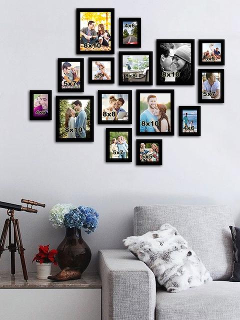 Art Street Set of 15 Black Wall Photo Frames