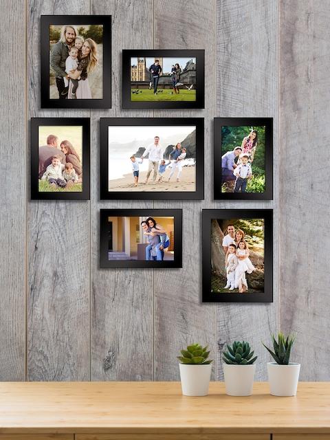 Art Street Set of 7  Black Wall Photo Frames