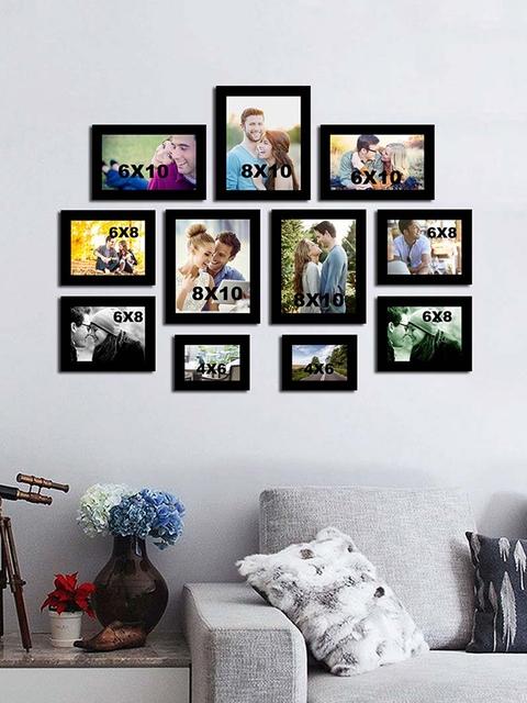 Art Street Set of 11 Black Wall Photo Frames