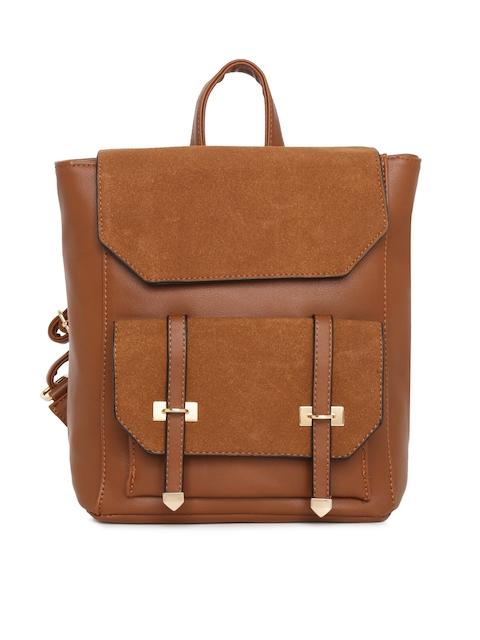 Mast & Harbour Women Brown Solid Backpack