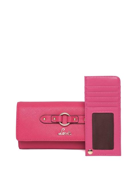 Lavie Women Pink Solid Two Fold Wallet