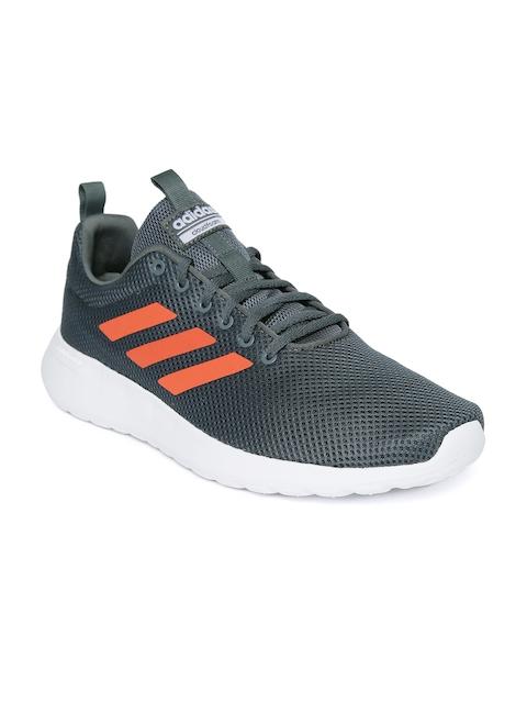 ADIDAS Men Grey Lite Racer CLN Woven Design Sneakers