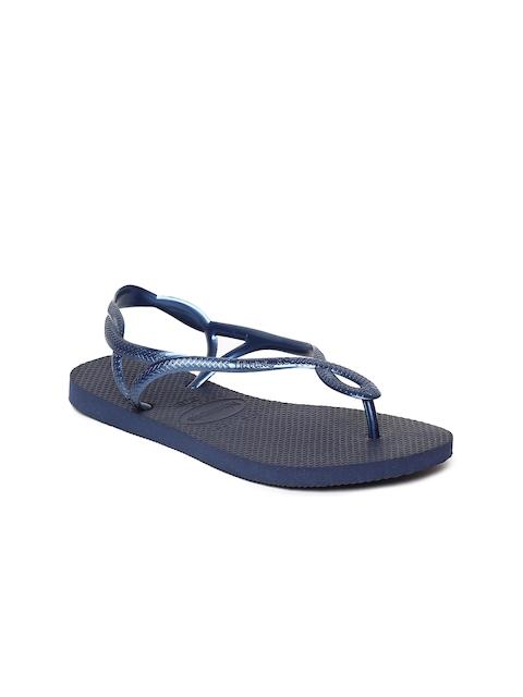 Havaianas Women Luna Blue Solid Open Toe Flats
