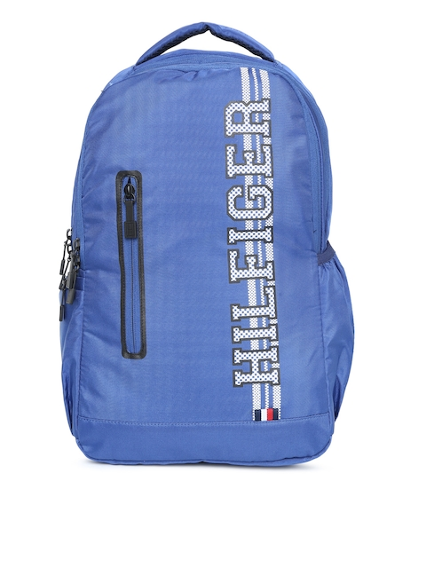 Tommy Hilfiger Unisex Blue Brand Logo Backpack