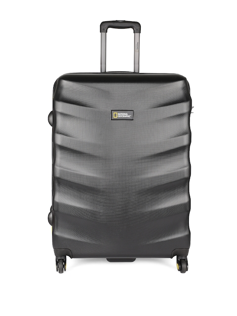 National Geographic Unisex Black Patterned Arete 71cm Large Trolley Suitcase