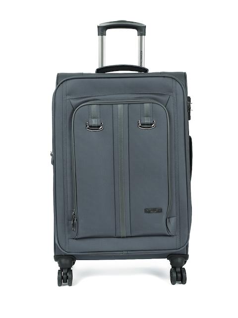 """Kenneth Cole Unisex Grey Solid Reaction 24"""" Medium Trolley Bag"""