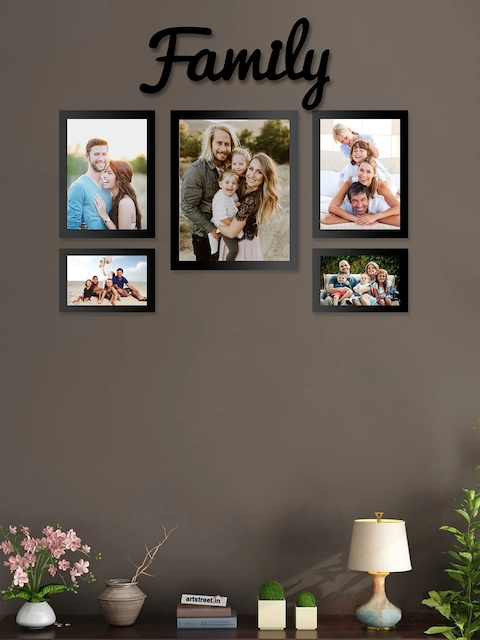 Art Street Set of 5 Black Wall Photo Frames
