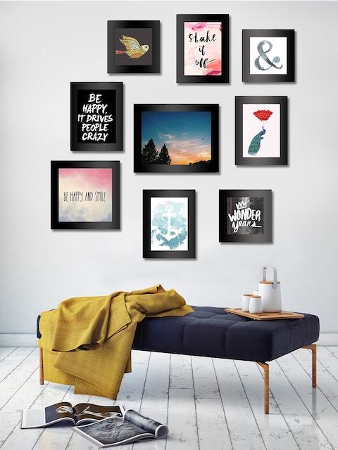 Art Street Set of 9 Black Wall Photo Frames
