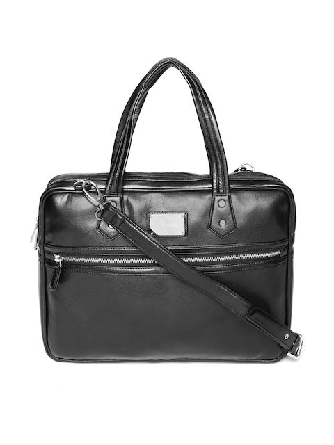 Gauge Machine Unisex Black Handcrafted Solid Laptop Bag