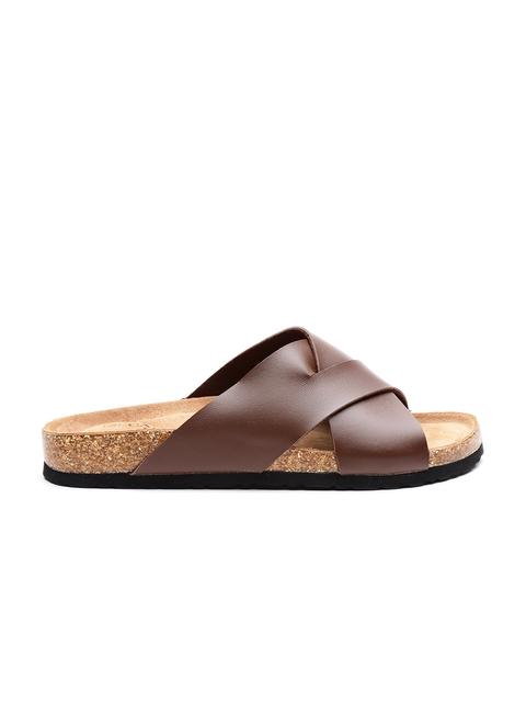 Carlton London Men Brown Comfort Sandals