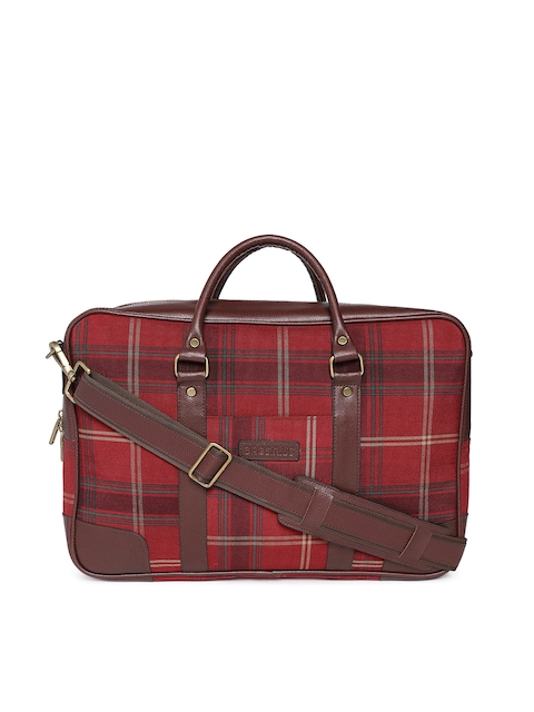 Bags.R.us Unisex Red Checked Laptop Bag