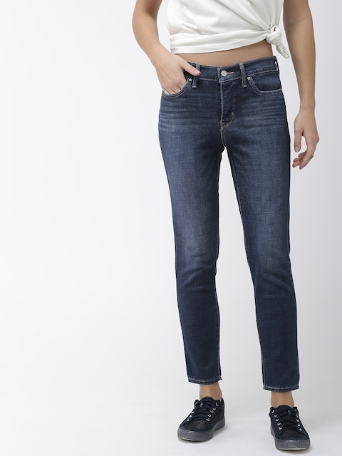 Levi's Levis Women Blue Shaping Skinny Fit Mid-Rise Clean Look Stretchable Ankle Jeans 311