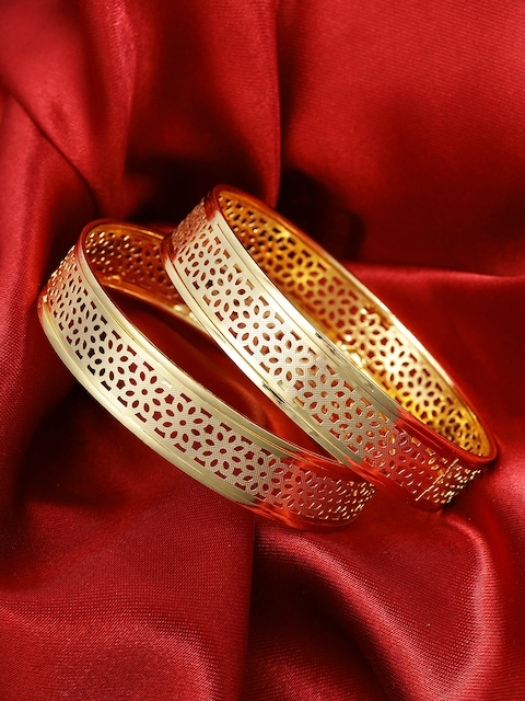 Priyaasi Set of 2 Gold-Plated Handcrafted Bangles