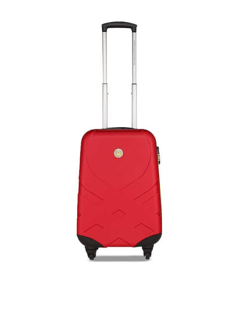 United Colors of Benetton Unisex Red Cabin Strolley Suitcase