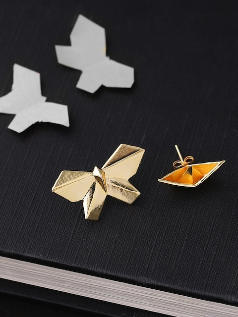 Voylla Gold-Plated Handcrafted Contemporary Studs