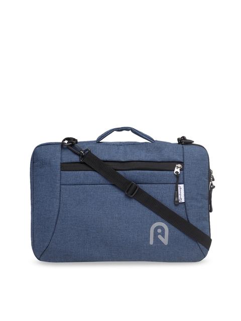 Indiamigo Unisex Navy Blue Solid Laptop Sleeve
