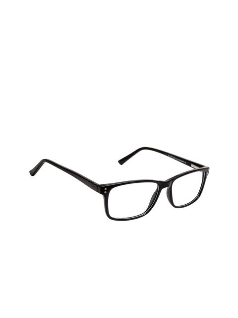 Cardon Unisex Black Solid Full Rim Rectangle Frames EWCD2255MGT8802BLK