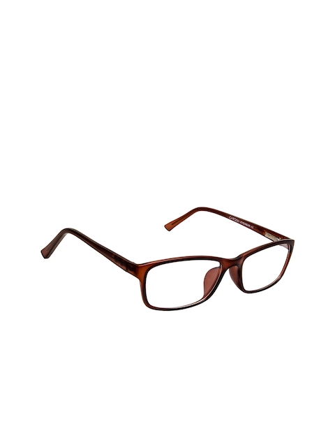Cardon Unisex Brown Solid Full Rim Rectangle Frames EWCD2270MGT8805MBRN