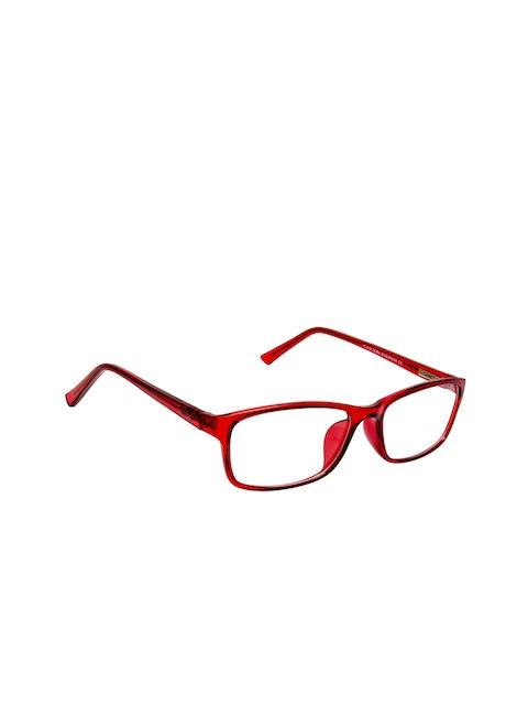 Cardon Unisex Red & Black Solid Full Rim Rectangle Frames EWCD2272MGT8805MRN