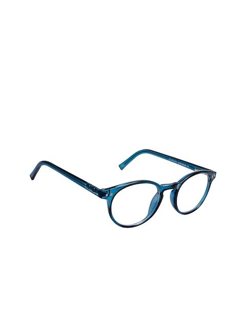 Cardon Unisex Blue Solid Full Rim Round Frames EWCD2312MGT8809BLU