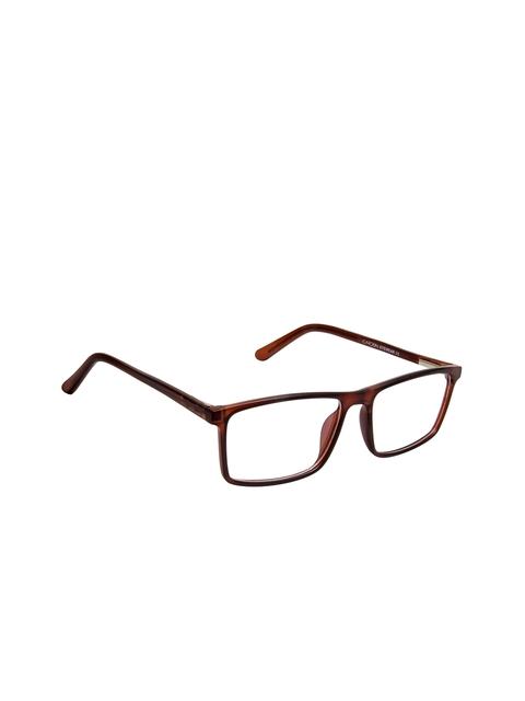 Cardon Unisex Brown Solid Full Rim Rectangle Frames EWCD2264MGT8803MBRN