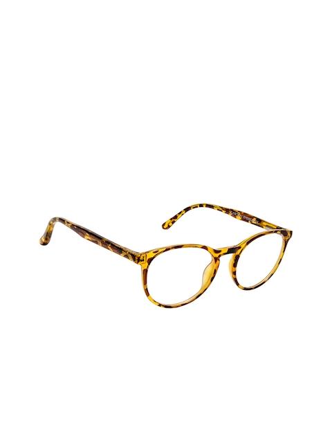 Cardon Unisex Brown & Yellow Tortoise Shell Full Rim Oval Frames EWCD2277MGT8810TOR