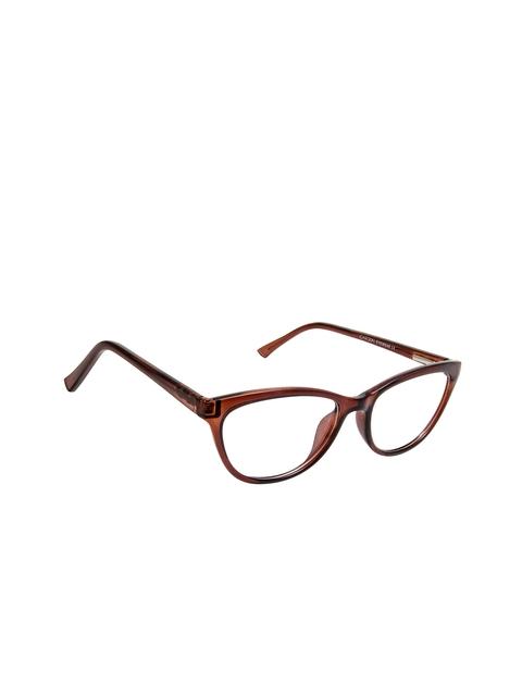 Cardon Women Brown Solid Full Rim Cateye Frames
