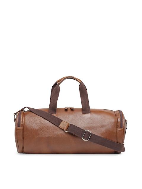 Teakwood Leathers Brown Solid Duffel Bag