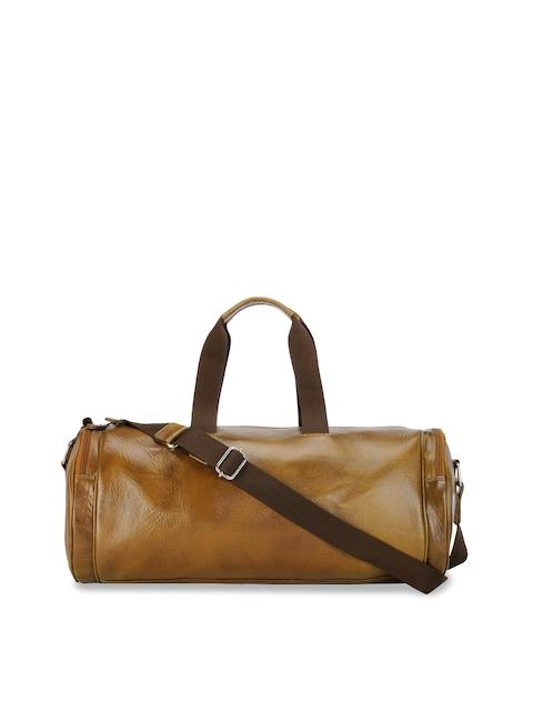 Teakwood Leathers Tan Brown Solid Duffel Bag