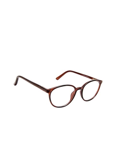 Cardon Unisex Brown Solid Full Rim Round Frames EWCD2280MGT8807BRN