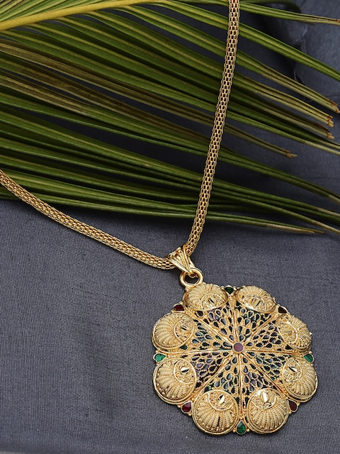 ZeroKaata Gold-Plated Handcrafted Pendant with Chain
