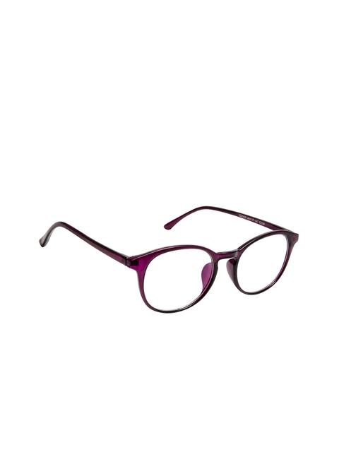 Cardon Unisex Purple Solid Full Rim Round Frames EWCD2368CUD2425C8