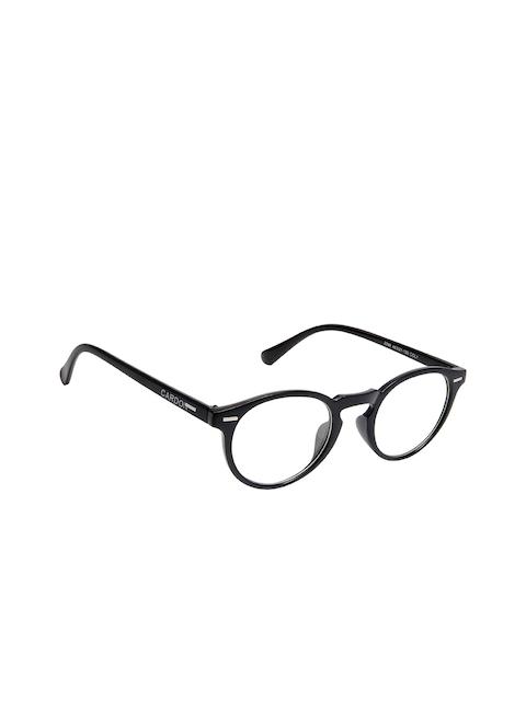 Cardon Unisex Black Solid Full Rim Oval Frames EWCD1850SM2288C1