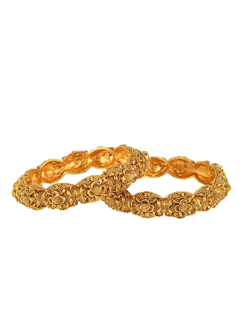 Adwitiya Collection Women 24k Gold-Plated Embellished Designer kada