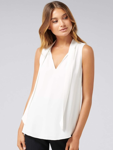 Forever New Women White Solid Top